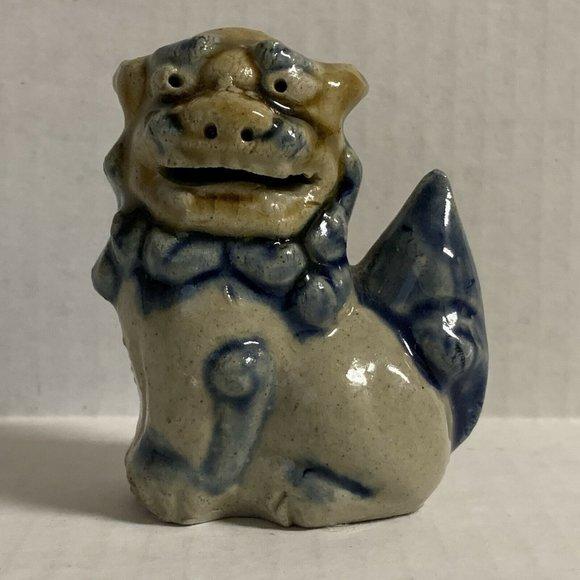 Chinese Foo Dog Figurine Sitting Left